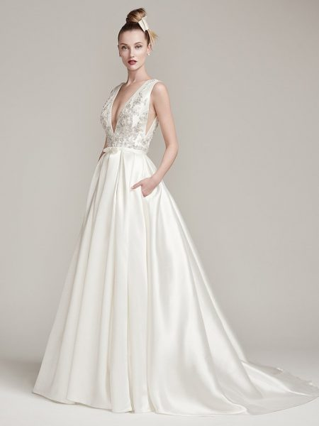 A-Line Wedding Dress by Sottero and Midgley - Image 1