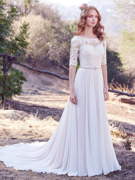 Bohemian A-line Wedding Dress by Maggie Sottero - Image 1
