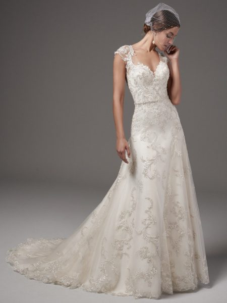 Classic A-line Wedding Dress by Sottero and Midgley - Image 1