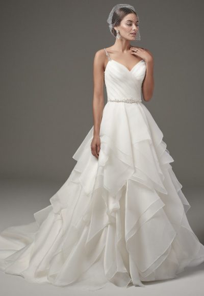 Classic Ball Gown Wedding Dress by Sottero and Midgley