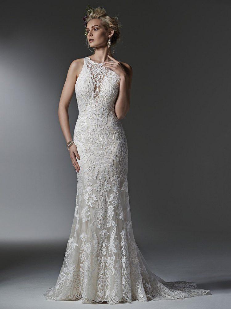 Classic Sheath Wedding Dress by Sottero and Midgley - Image 1