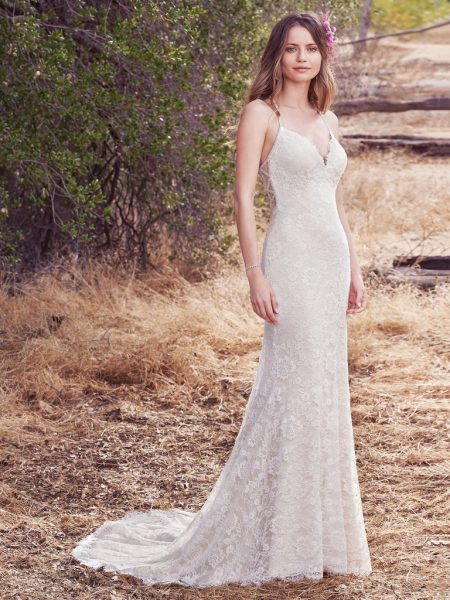 Classic Sheath Wedding Dress by Maggie Sottero - Image 1