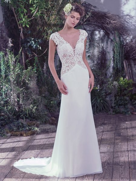 Modern A-line Wedding Dress by Maggie Sottero - Image 1