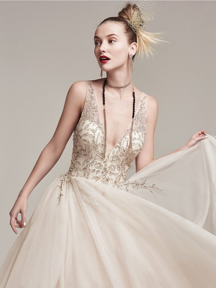 Modern A-line Wedding Dress by Sottero and Midgley - Image 1