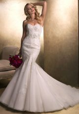 Modern Fit And Flare Wedding Dress by Maggie Sottero - Image 1