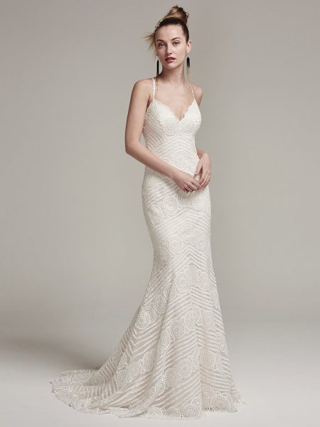 Modern Sheath Wedding Dress by Sottero and Midgley - Image 1
