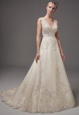 Romantic A-line Wedding Dress by Sottero and Midgley - Image 1