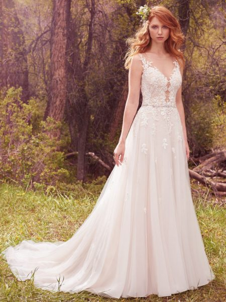 Romantic A-line Wedding Dress by Maggie Sottero - Image 1