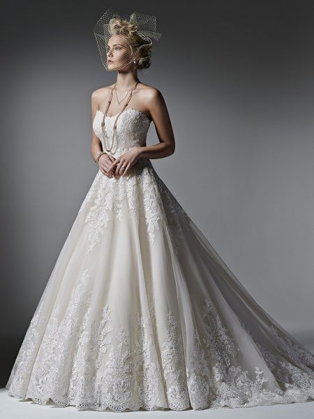 Romantic Ball Gown Wedding Dress by Sottero and Midgley - Image 1