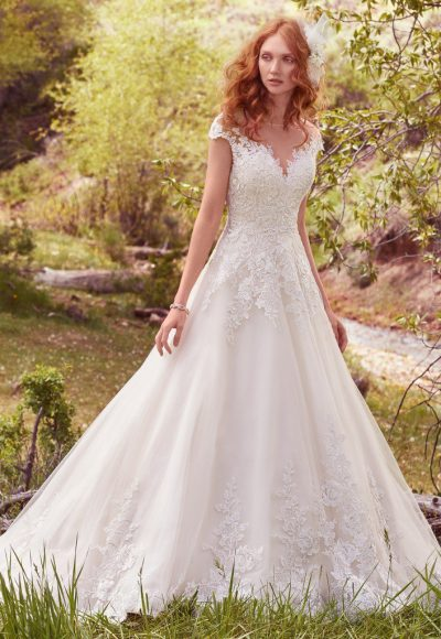 Romantic Ball Gown Wedding Dress by Maggie Sottero