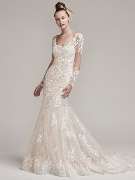 Romantic Fit And Flare Wedding Dress by Sottero and Midgley - Image 1