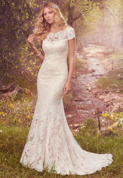 Romantic Fit And Flare Wedding Dress by Maggie Sottero