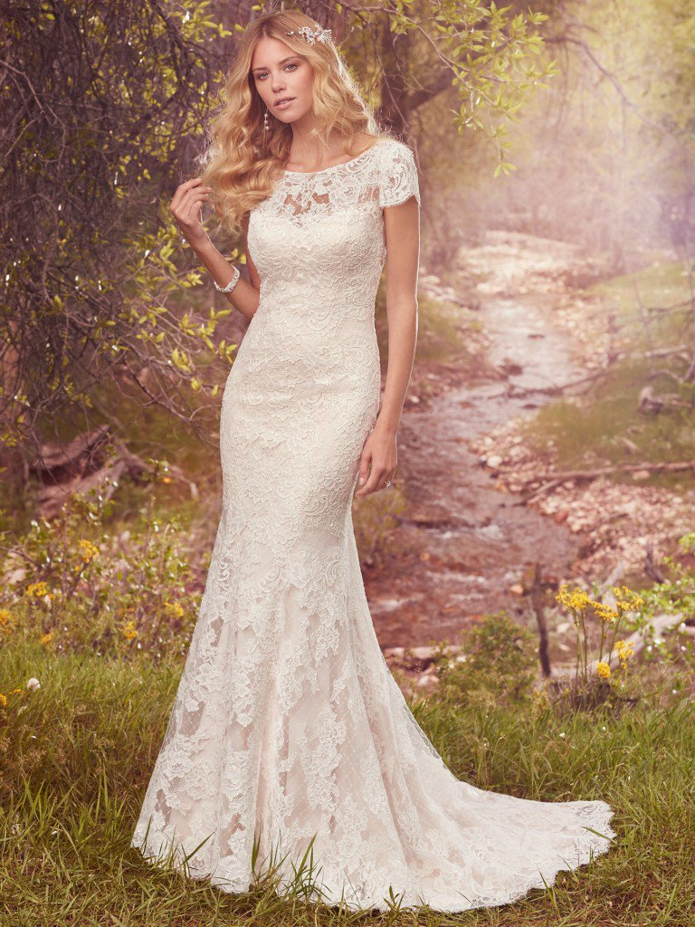 d3fb34bb86bdf Romantic Fit And Flare Wedding Dress