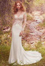 Romantic Sheath Wedding Dress by Maggie Sottero - Image 1