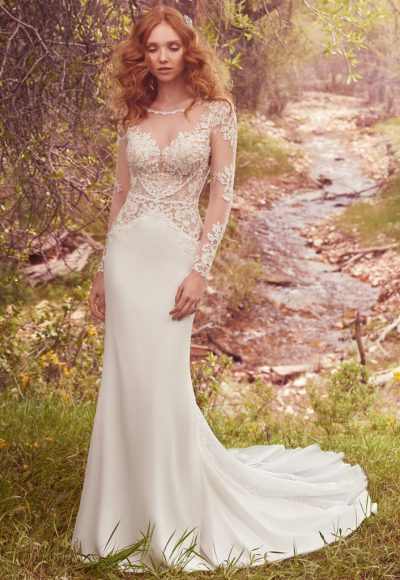 Romantic Sheath Wedding Dress by Maggie Sottero