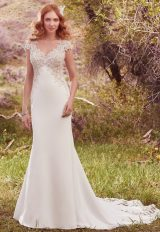 Romantic Sheath Wedding Dress by Maggie Sottero - Image 1