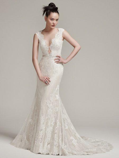 Sexy Sheath Wedding Dress by Sottero and Midgley - Image 1