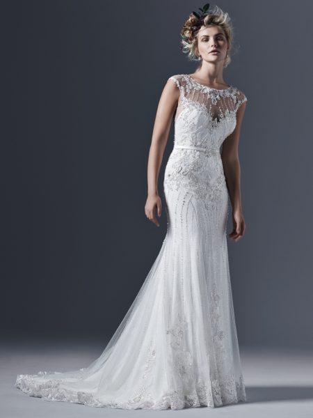 Sheath Wedding Dress by Sottero and Midgley - Image 1