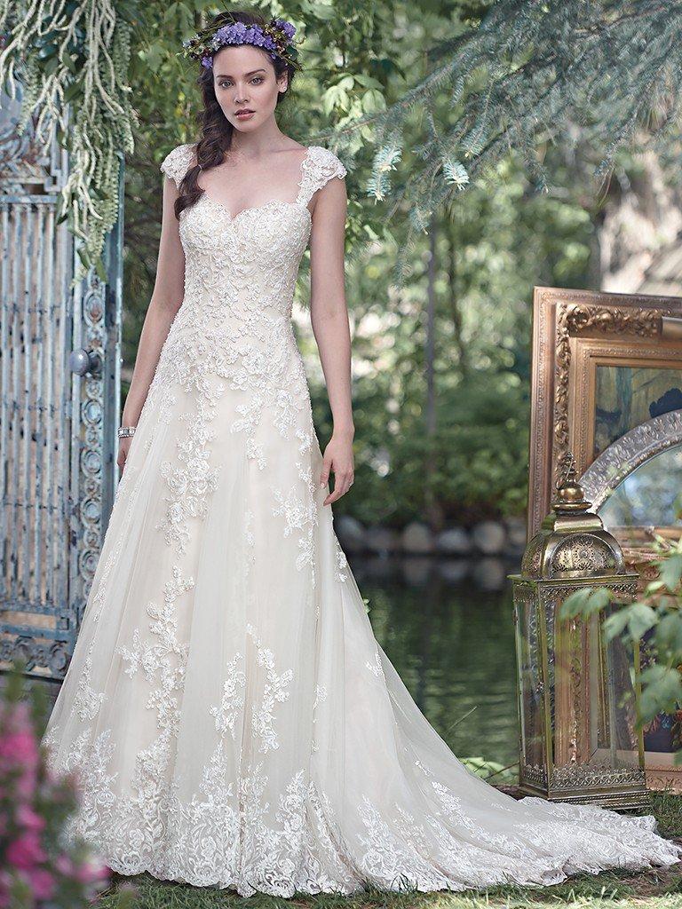 Simple A Line Wedding Dress Kleinfeld