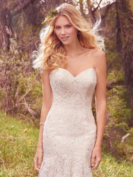Simple A-line Wedding Dress by Maggie Sottero - Image 1