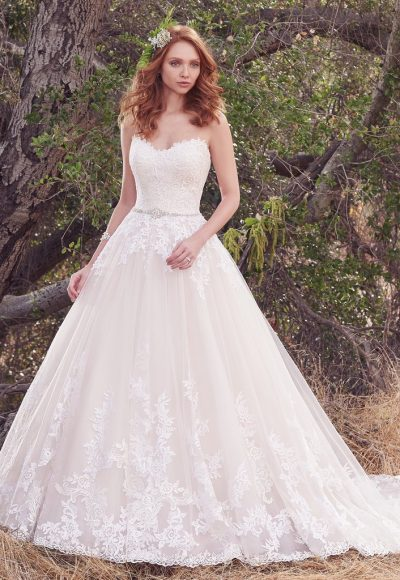 Simple A-line Wedding Dress by Maggie Sottero