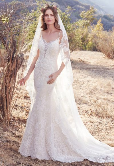 Simple Sheath Wedding Dress by Maggie Sottero