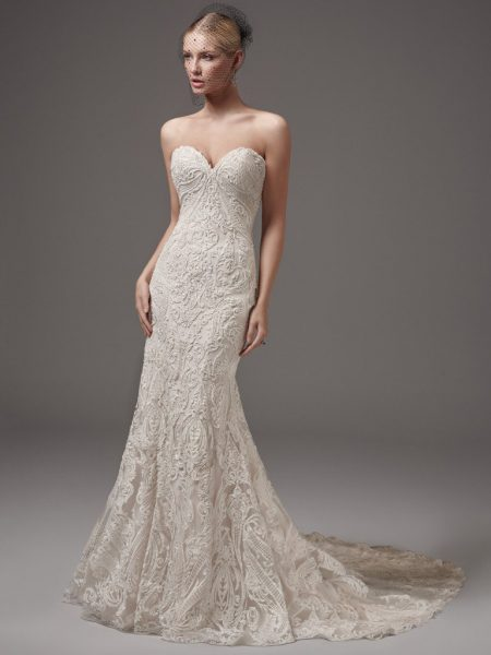 Trendy Fit And Flare Wedding Dress by Sottero and Midgley - Image 1