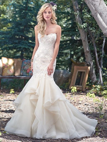 Trendy mermaid wedding dress kleinfeld bridal trendy mermaid wedding dress by maggie sottero image 1 junglespirit Images