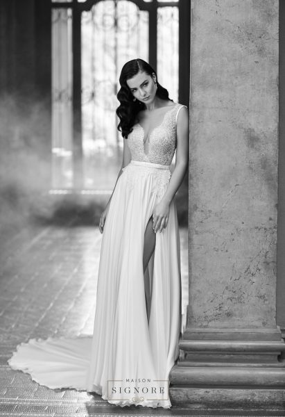 A-Line Wedding Dress by Maison Signore - Image 1