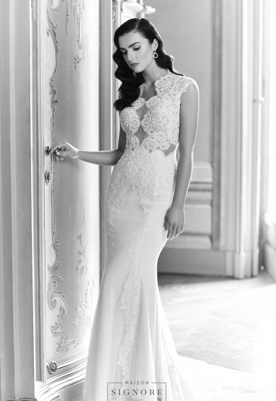 Fit And Flare Wedding Dress by Maison Signore