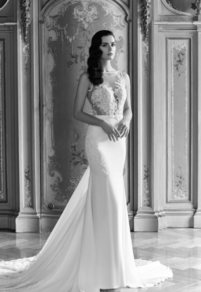 Romantic Sheath Wedding Dress by Maison Signore