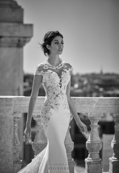 Sheath Wedding Dress by Maison Signore