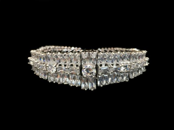 Crystal Bracelet Silver by Malis Henderson Headpieces & Accessories - Image 1