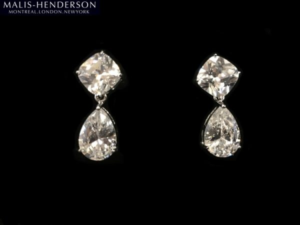 Crystal Earrings In Silver by Malis Henderson Headpieces & Accessories - Image 1
