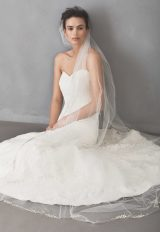 Cathedral Tulle Beaded Bridal Veil - Image 1