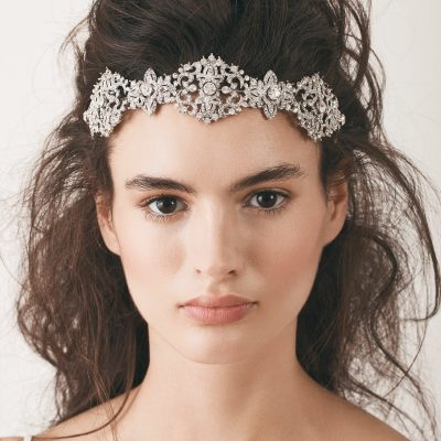 Crystal Bridal Headpiece In Silver by Henry Roth Accessories