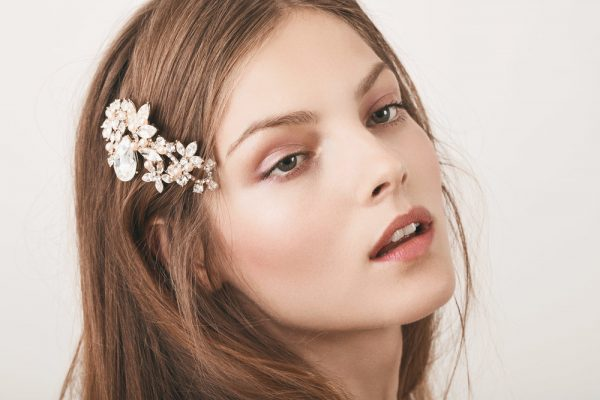 Floral Crystal Hair Comb by Henry Roth Accessories - Image 1