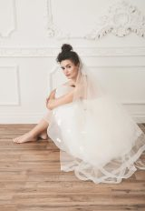 Tulle Bridal Veil In Ivory - Image 1
