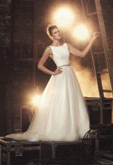 Modern A-line Wedding Dress by Mikaella - Image 1