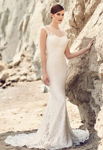 Romantic Fit And Flare Wedding Dress by Mikaella