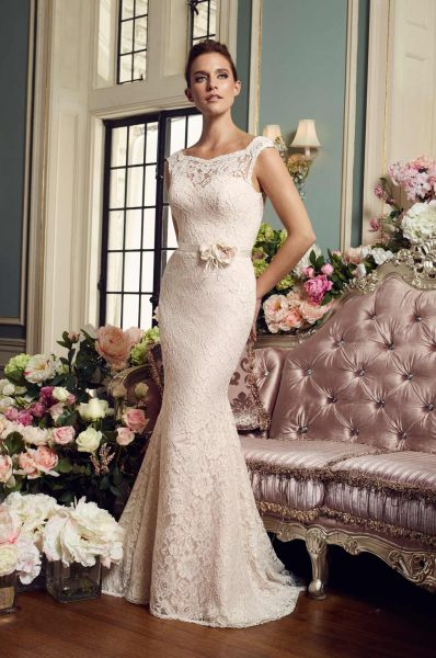 Romantic Fit And Flare Wedding Dress by Mikaella - Image 1