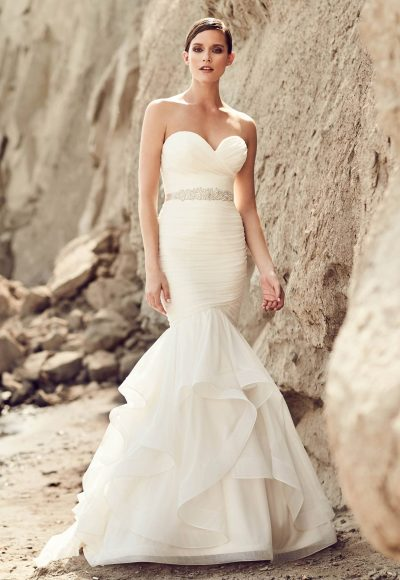 Romantic Mermaid Wedding Dress by Mikaella