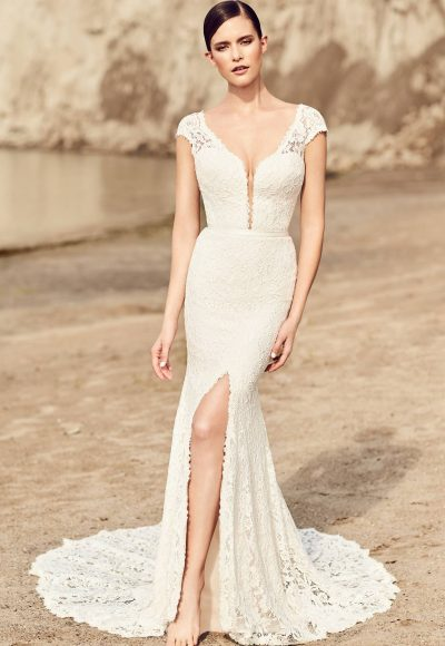 Sexy Fit And Flare Wedding Dress by Mikaella