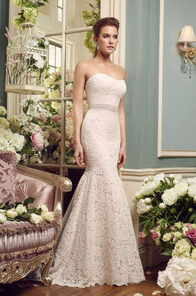 Sexy Fit And Flare Wedding Dress by Mikaella - Image 1