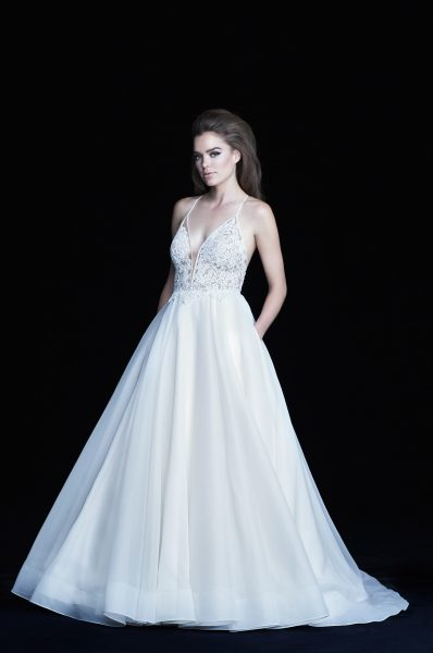 Classic A-line Wedding Dress by Paloma Blanca - Image 1