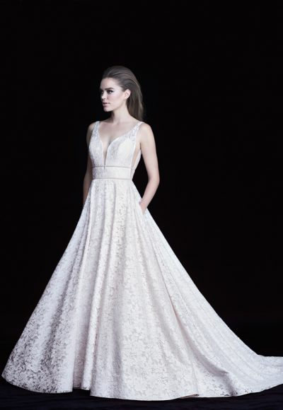 Classic Ball Gown Wedding Dress by Paloma Blanca