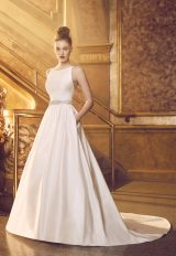 Modern Ball Gown Wedding Dress by Paloma Blanca - Image 1