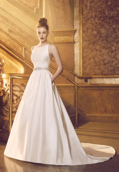 Modern Ball Gown Wedding Dress by Paloma Blanca