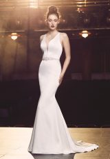 Modern Fit And Flare Wedding Dress by Paloma Blanca - Image 1