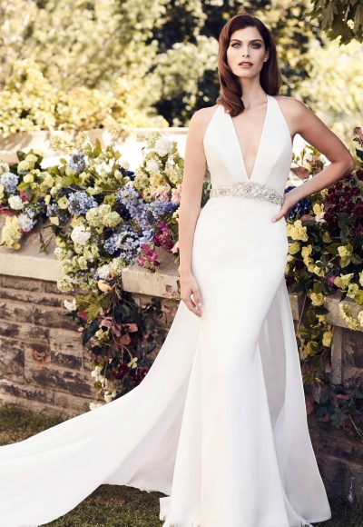 Modern Sheath Wedding Dress by Paloma Blanca
